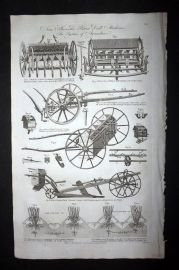 Hall 1789 Antique Print. New Invented Patent Drill Machines